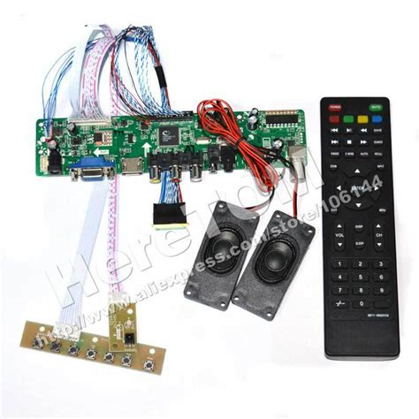 Lcd Tv Controller Board hdmi av vga tv lcd driver controller board kit 7 keypad 40pin lvds cable remote