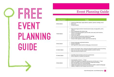 event planning timeline template template design