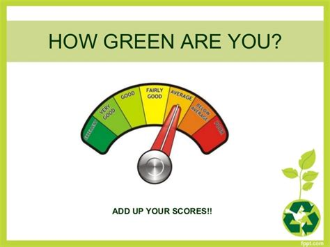 which are you how green are you questionnaire key