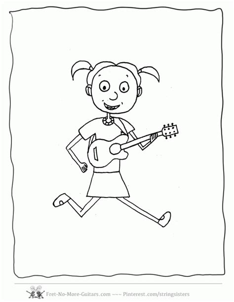 guitar player coloring page guitar coloring pages kid guitar player 1 az coloring pages