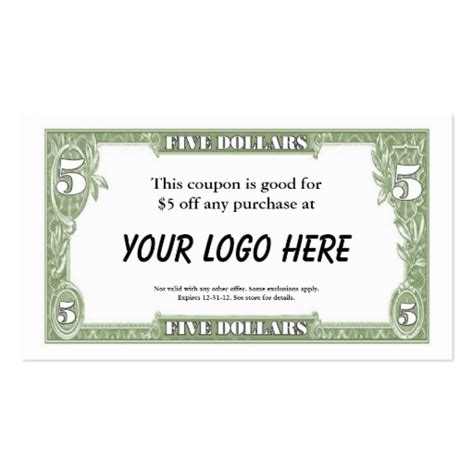 Business Card Coupons