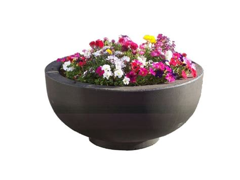 Foot Planter by 3ft Concrete Bowl Planter Site Furnishings