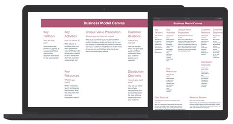 Free Business Model Canvas Template business model canvas template and exles xtensio