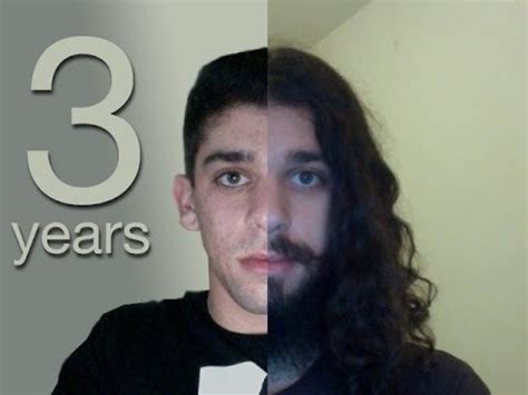 3 year long hair men three years time lapse growing my hair youtube
