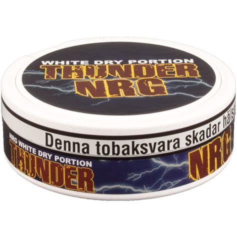 Thunder Nrg Portion Swedish Snus 1 Can thunder nrg white