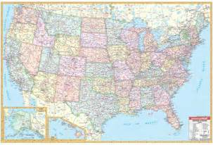 usa map states roads united states 60x40 lam w rails universalmap wall