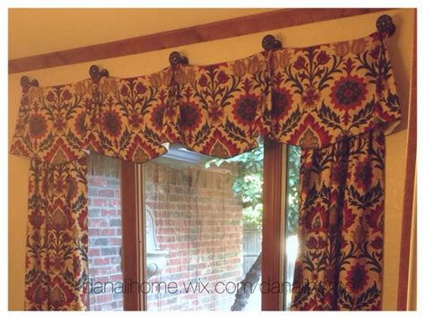 stationary drapery panels stationary panels valance attached with medallions