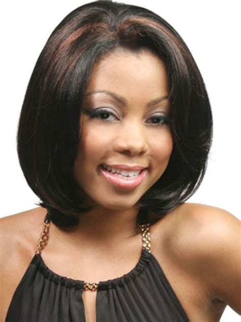 ear length bob african american medium length hairstyles for african american women with
