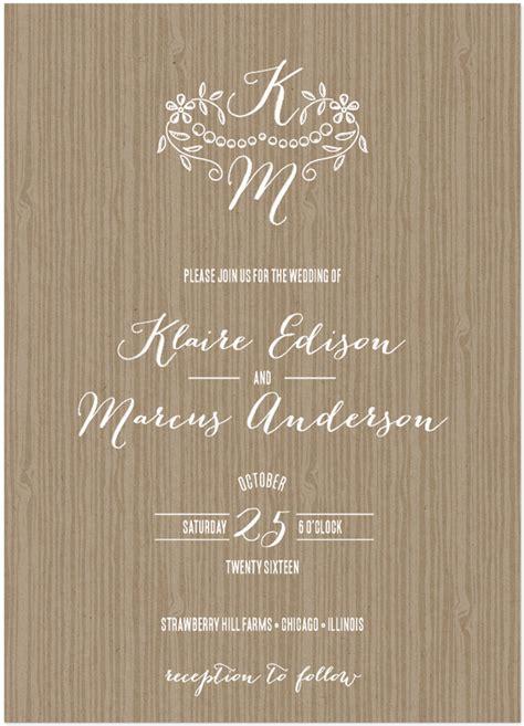 Bombshell Font Wedding Invitation