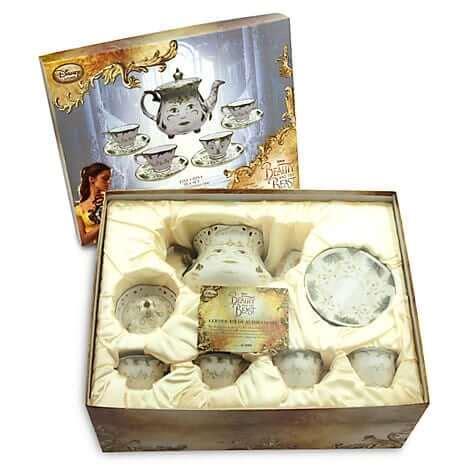 Disneyland Ceramic Magic Castle Tea Set - quot and the beast quot limited edition china tea set