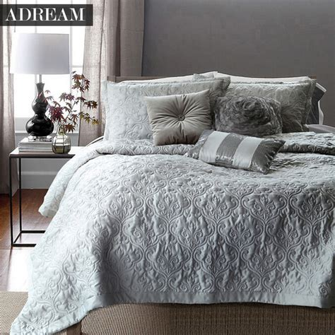 white bed coverlet aliexpress com buy adream faux silk cotton bedspread