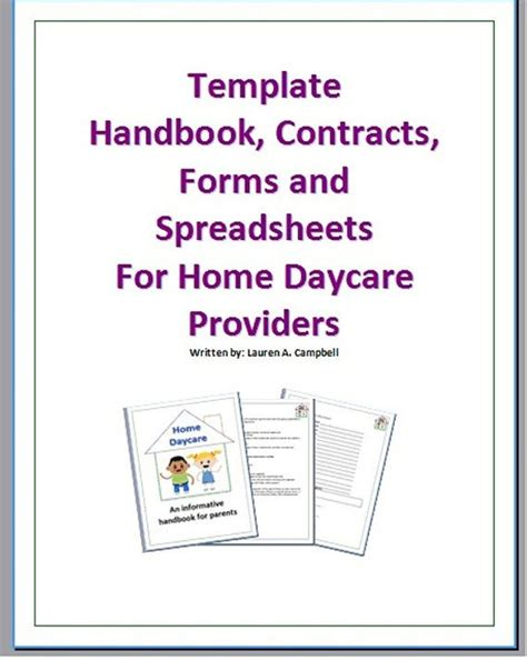 Handbook Template Model Employee Handbook Template Employment Handbook Template For Word Child Care Employee Handbook Template