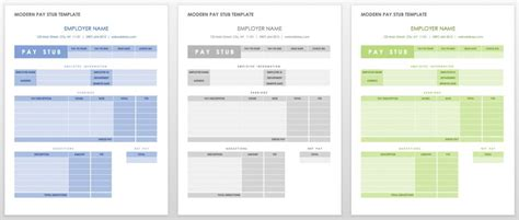Free Pay Stub Templates Smartsheet Pay Stub Template Word