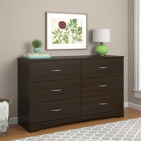 dark russet cherry dresser ameriwood furniture crescent point 6 drawer dresser