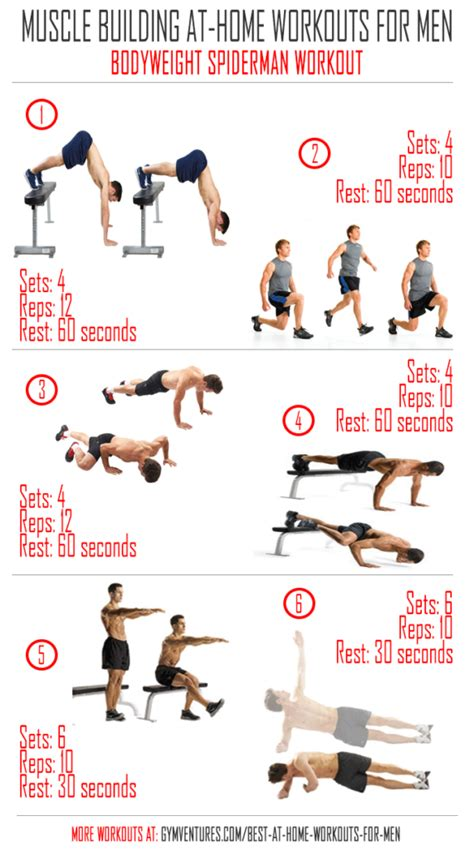 workout plan for men at home at home workouts for men bodyweight spiderman workout awesome at home workouts pinterest