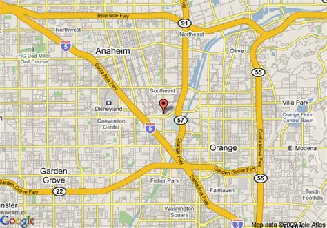 where is anaheim california on the map map of towneplace suites anaheim anaheim