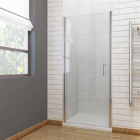 Pivot Or Hinged Shower Door Frameless Shower Door Pivot Hinge Shower Enclosure Cubicle 700 760 800 900mm Ebay