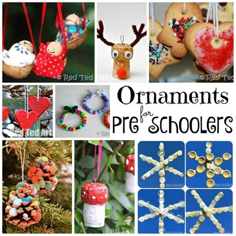 christmas ornaments  preschoolers  young kids red
