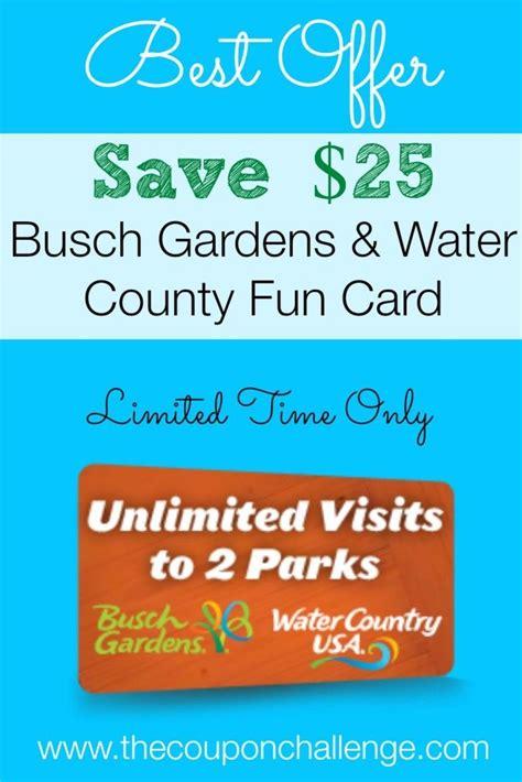 Discount Busch Garden Tickets Williamsburg by Busch Gardens Williamsburg Card Discount Save 25 On