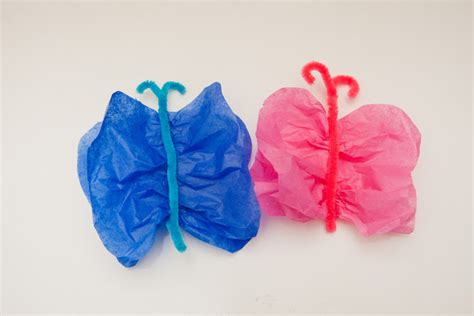 Tissue Paper Butterfly Craft - minutes tissue paper butterflies