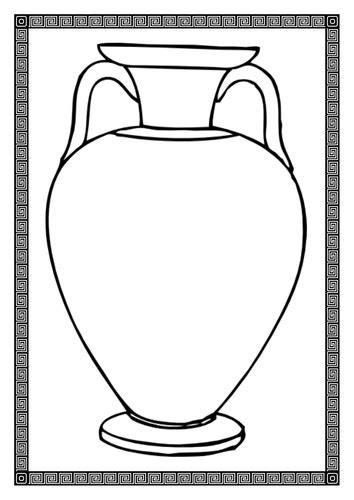 Vase Template by Vase Template By Bubbleresources Teaching Resources Tes