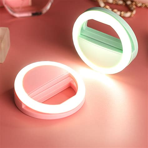 Selfie Ring Light Charge fashion usb charge selfie ring lights clip on cellphone