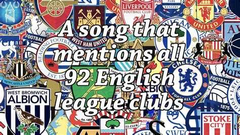 english football league and 1862233551 a song that mentions all 92 english league clubs youtube