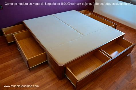 cama cajones cama de madera con cajones