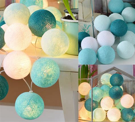 cotton lights 20 cotton balls string light uk for sale