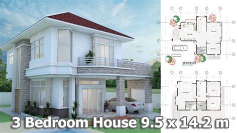 home design 3d youtube home design 3d modern home plan 9 5 x 14 2m youtube