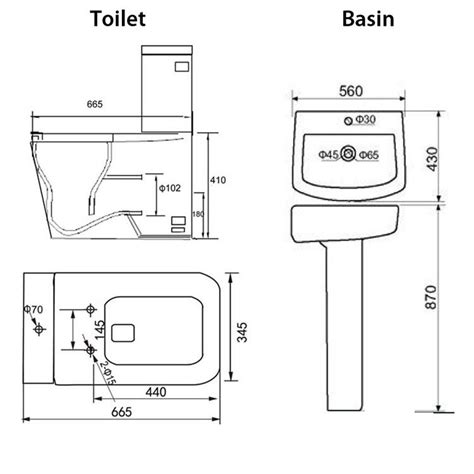 standard bathroom basin height l shape bath close coupled toilet basin sink complete