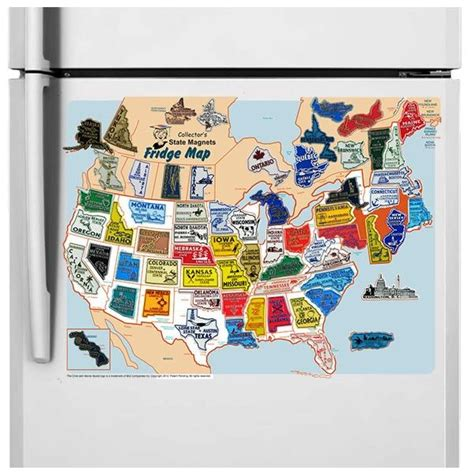 map usa magnetic 7 best usa canada 65 magnet state province set