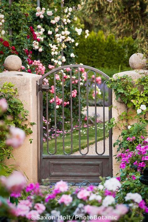metal for gardens metal garden gate on stucco pillars entry into garden