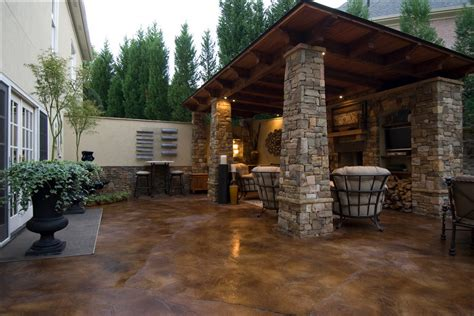 Stained Concrete Patio Pictures - how to stain concrete