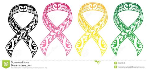 Cancer Colors Zodiac by Tribal Cancer Ribbon Stock Vector Image 46525346