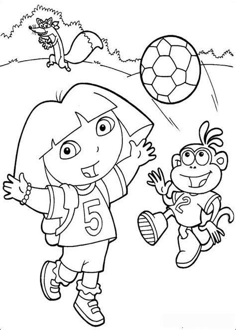 baby dora coloring pages soccer dora the explorer coloring pages free printable