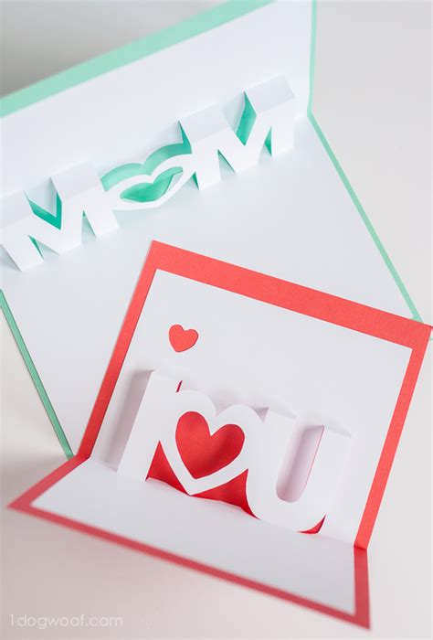 Mothers Day Pop Up Card Templates by I You Pop Up Cards With Free Silhouette Cut