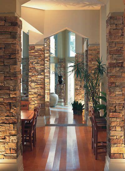 great idea  columns faux brick panels stone veneer