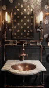 Steampunk style industrial interior retro decor home