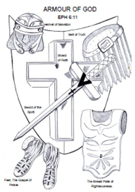 armour of god sunday school lesson crafts and coloring