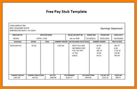 pay stubs calculator 7 free pay stub template with calculator pay stub format