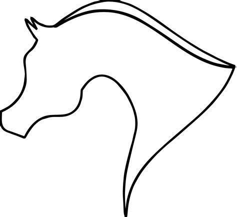 Arabian Horse Silhouette Outline Coloring Page