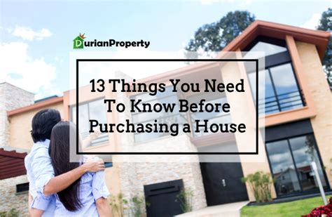 things you need for house 13 things you need to know before purchasing a house