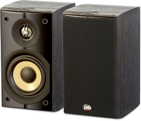 psb image b4 black ash compact bookshelf speakers at