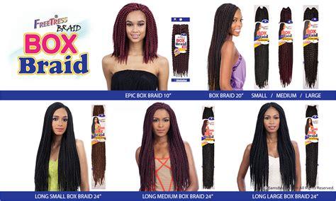 Jumbo Crown Mw freetress synthetic hair crochet braid medium box braids