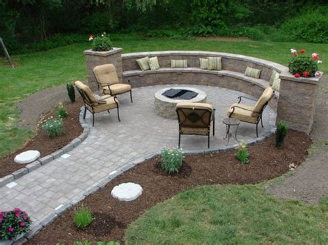 Stunning Backyard Fire Pit Ideas With Cozy Seating Designs Patio Designs With Pits