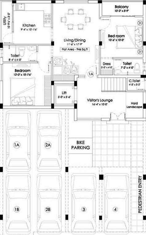 the inspira floor plan 946 sq ft 2 bhk 2t apartment for sale in aura deziner