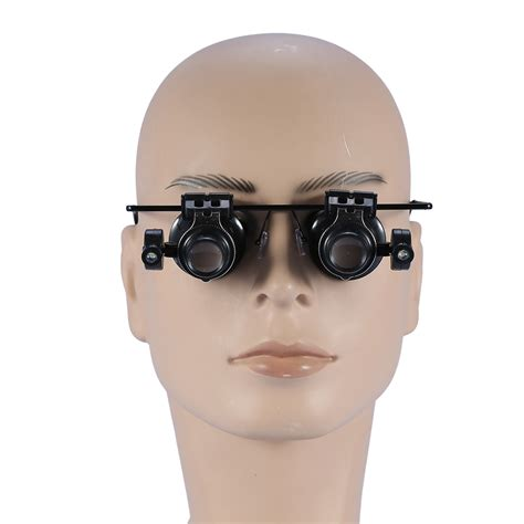 magnifying goggles with light 20x magnifying eye magnifier glasses led light loupe lens