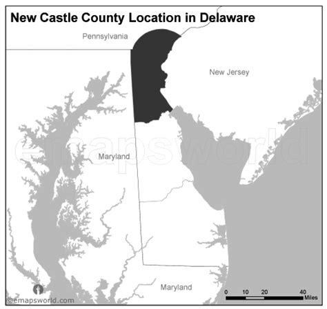 white castle locations map new castle county location map delaware black and white emapsworld