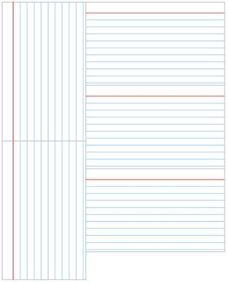 index card template the letter sle